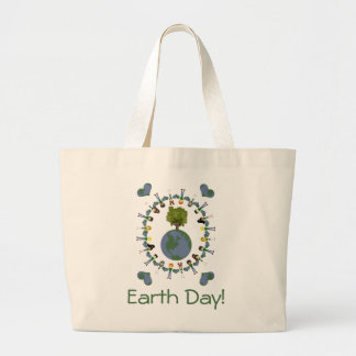 Earth Heart Kids with Tree Tote Bag