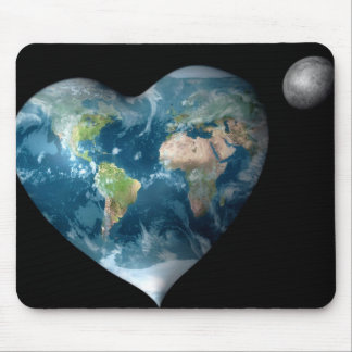 Earth Heart Mouse Pads