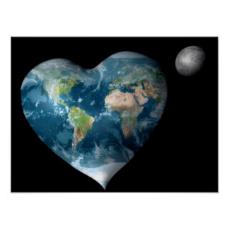 Earth Heart Poster