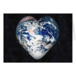 Earth Heart (Universe Background) Greeting Card