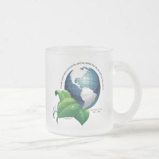 Earth ~ Henry David Thoreau Quotation Frosted Glass Mug
