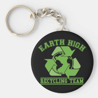 Earth High Recycling Dark Key Chains