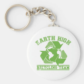 Earth High Recycling Key Chains