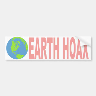 Earth Hoax (Flat Earth) Bumper Sticker