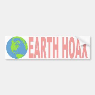 Earth Hoax (Flat Earth) Bumper Sticker