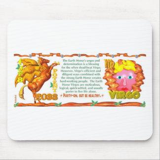 Earth Horse zodiac born in  Virgo 1978 Mouse Pad