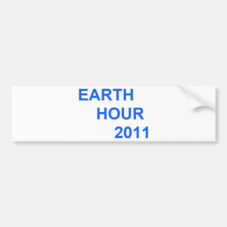 Earth Hour 2011 Bumper Stickers