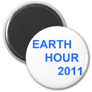Earth Hour 2011 6 Cm Round Magnet