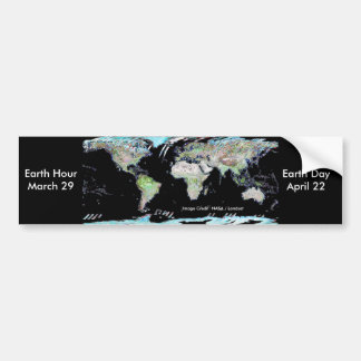 Earth Hour Earth Day Bumper Stickers