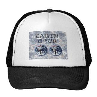 Earth Hour -  Earth Text w/Clocks 830-930 Hat