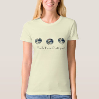Earth Hour Participant Text Image T-Shirt