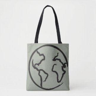 Earth illustrated tote bag