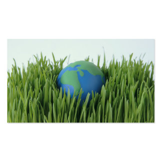 earth in grass green business card