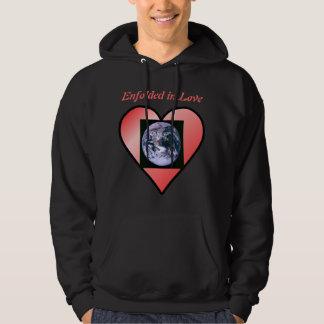 Earth in Love mens hoodie