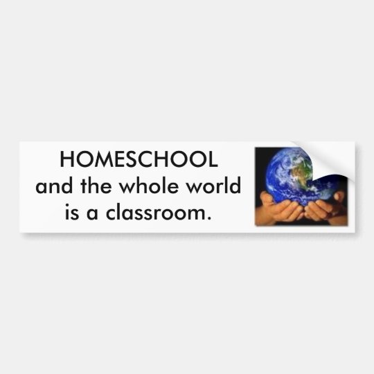 Earth in our Hands, HOMESCHOOL Bumper Sticker