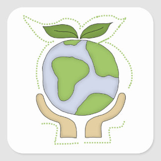 Earth In Our Hands T-shirts and Gifts Square Sticker