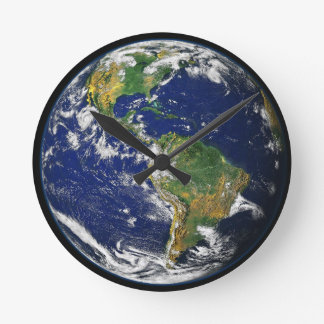 Earth In Space Acrylic Clock
