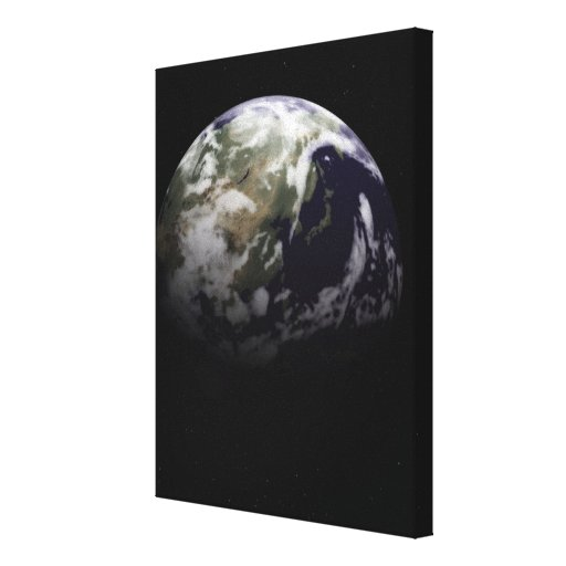 Earth in Space Gallery Wrapped Canvas