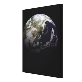 Earth in Space Canvas Print