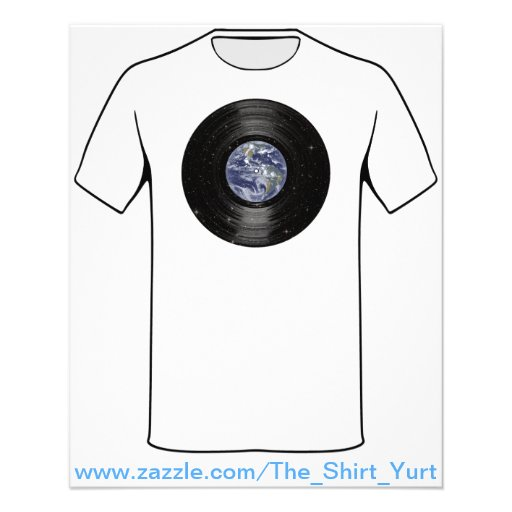 Earth In Space Vinyl LP Record Custom Flyer