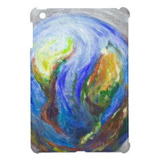 Earth in the cradle (earth surrealism) iPad mini case