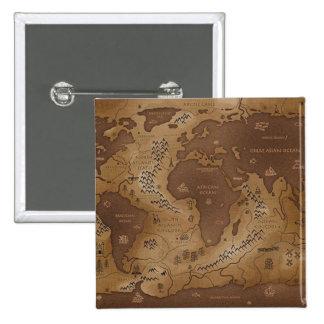 earth-inversed 15 cm square badge