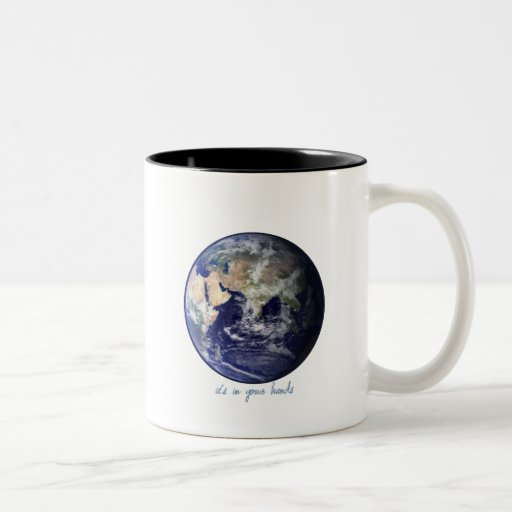 Earth - it's in your hands coffee mug