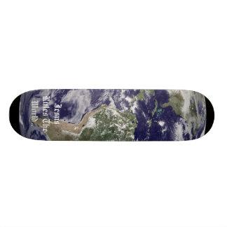 Earth, Jesus Rules The World.. 21.3 Cm Mini Skateboard Deck