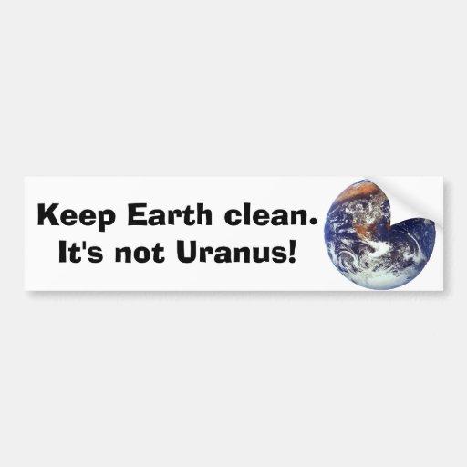 Earth, Keep Earth clean. Bumper Stickers