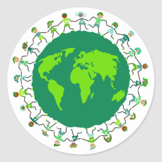Earth Kids Classic Round Sticker