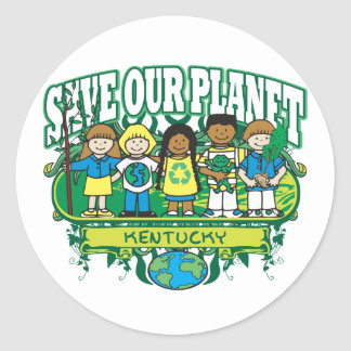 Earth Kids Kentucky Classic Round Sticker