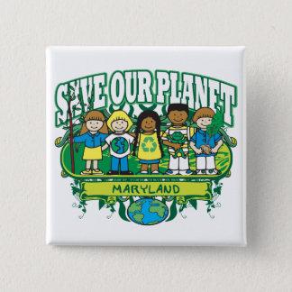 Earth Kids Maryland 15 Cm Square Badge