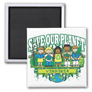 Earth Kids Virginia Magnet