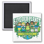 Earth Kids Virginia Square Magnet