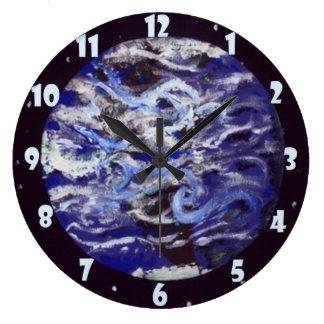 Earth Large Clock
