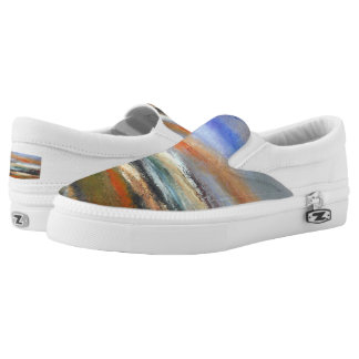 Earth Layers  Abstract Slip on Sneaker Printed Shoes