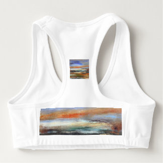 Earth Layers Abstract Sports Bra