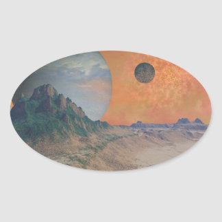 Earth Like Space Scene Stickers