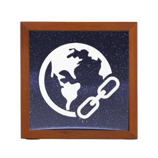 Earth Links Icon Desk Organiser