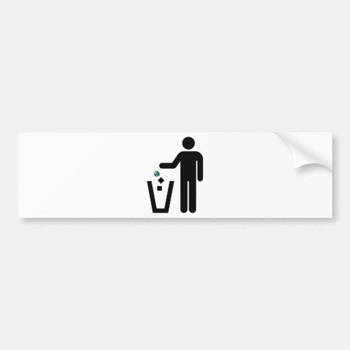 Earth Litter Disposal Bumper Sticker