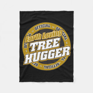 Earth Loving Tree Hugger Fleece Blanket