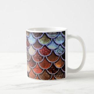 Earth Luxury Glitter Mermaid Scales Coffee Mug