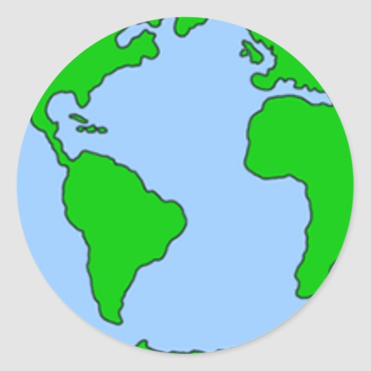 earth made simple classic round sticker
