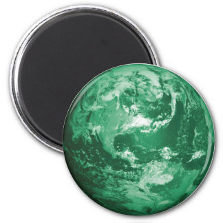 earth 6 cm round magnet