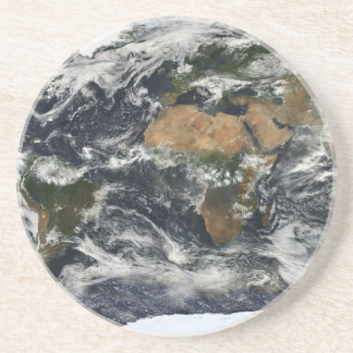 Earth map coaster