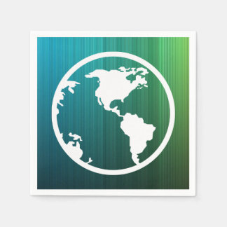 Earth Mappings Icon Disposable Serviette