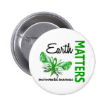Earth Matters Butterfly Environmental Awareness 6 Cm Round Badge