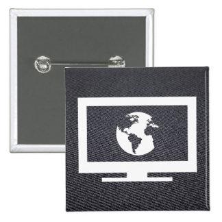 Earth Monitors Pictograph 15 Cm Square Badge