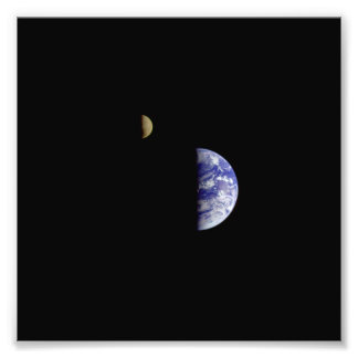 Earth Moon Galileo Space Photograph