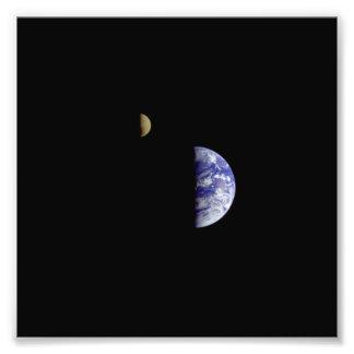 Earth Moon Galileo Space Photograph